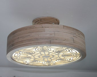 Birch plywood Ceiling LED light