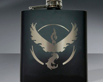 Pokemon Team Valor Flask - 6 oz Flask.