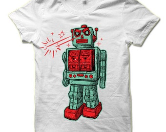 Evil Robot T-Shirt. Vintage Robot Shirt.