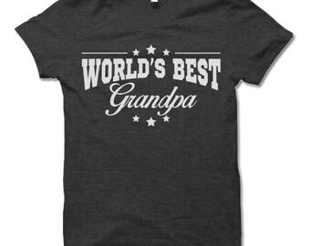 World's Best Grandpa T Shirt. Awesome Grandpa Gifts.