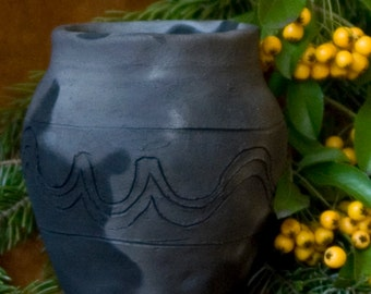 Middle Ages / ceramic, mug / pit fire / handmade / piece