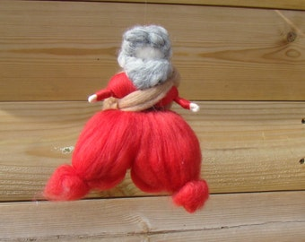 Needle felted Santa Claus Ready to ship now Waldorf father Christmas gift for boy Xmas Wool Christmas figure Elf Kendal felted gift UK doll