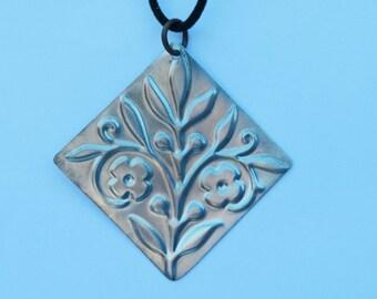 Embossed Aluminum Pendant