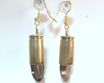 Bullet Jewelry- Smoky Quartz Bullet Earrings