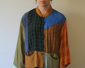 Funky Vintage Patchwork Button Down