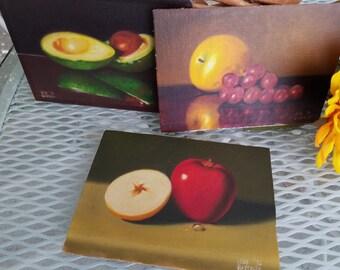 California Artist Gene Gladfelty Set of Three Original Still Life Paintings