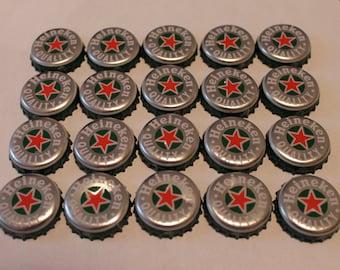 Recycled heineken beer bottle caps etsy - Beer bottle caps recyclable ...