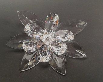 "7.1"" Crystal Lotus Flower Ornament"