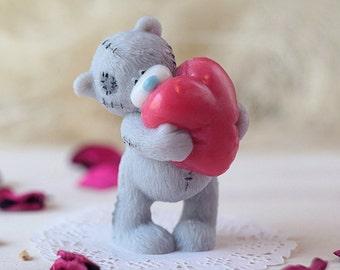 Gift For Woman, Handmade Cute Soap - Little Teddy Bear With Heart, Soap Gift For Her, Gift For Girl, Baby Room Decor, Cute Gift