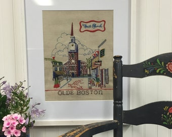 Vintage Olde Boston Cross Stitch