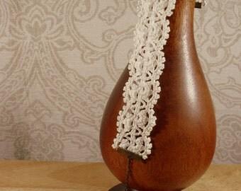 Ecru Crochet pure cotton lace choker/Necklace. Valentine's gift