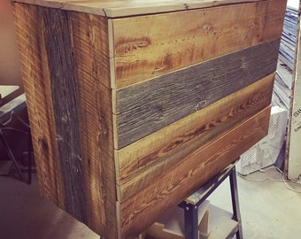 Contemporary Reclaimed Wood Four Drawer Dresser