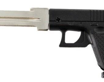 Gun Key Blank House Key Full 3D Black Polymer Mold Semi-Auto Gun Kwikset House Key KW1 KW10 ~ FREE Gift Box!