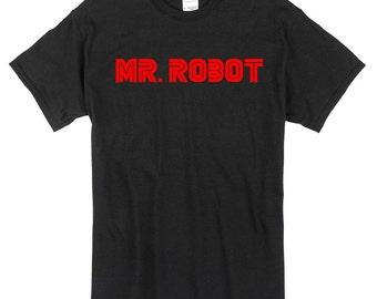 Mr Robot T-Shirt black 100% cotton