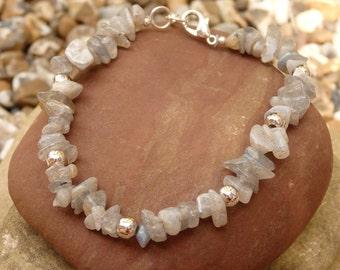 Ankor, Gemstone Bracelets, Silver Jewellery, Gifts for Her, Birthday, Stocking fillers, Friendship, Love, Grey Howlite, Gemstone gifts