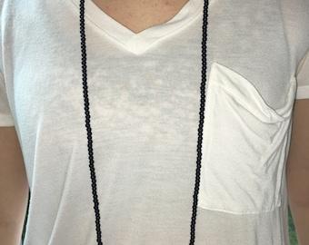 Black Double Wrap Necklace