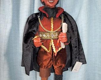 "LUCIFER  Loutka Marionette (TM)  String Puppets Approx 18"" High Hand Made In Prague Czech Republic"