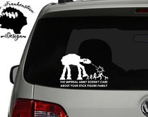 AT-AT - Nobody cares about your stick family decal