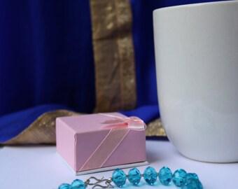 Silver and semi precious stone - handmade bracelet