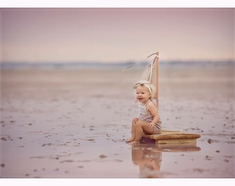 Photo prop wooden raft. UK SELLER