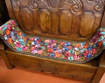Multi-Colored Fuschia Handmade  Spanish Style Runner