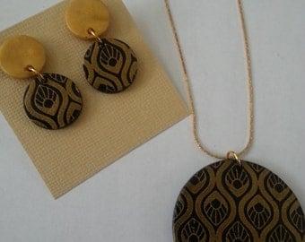 Silkscreen Polymer Clay/Terracotta Jewelry
