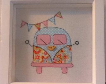 Handmade sewn campervan frame gift