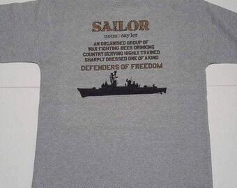 NAVY SAILOR T-shirt grey cotton