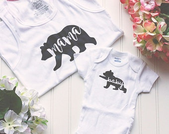 Baby Bear Onesie® - baby clothes, Gerber Onesie®, boho bodysuit, take home outfit, boytribal outfit, hand drawn, new baby clothes, woodland
