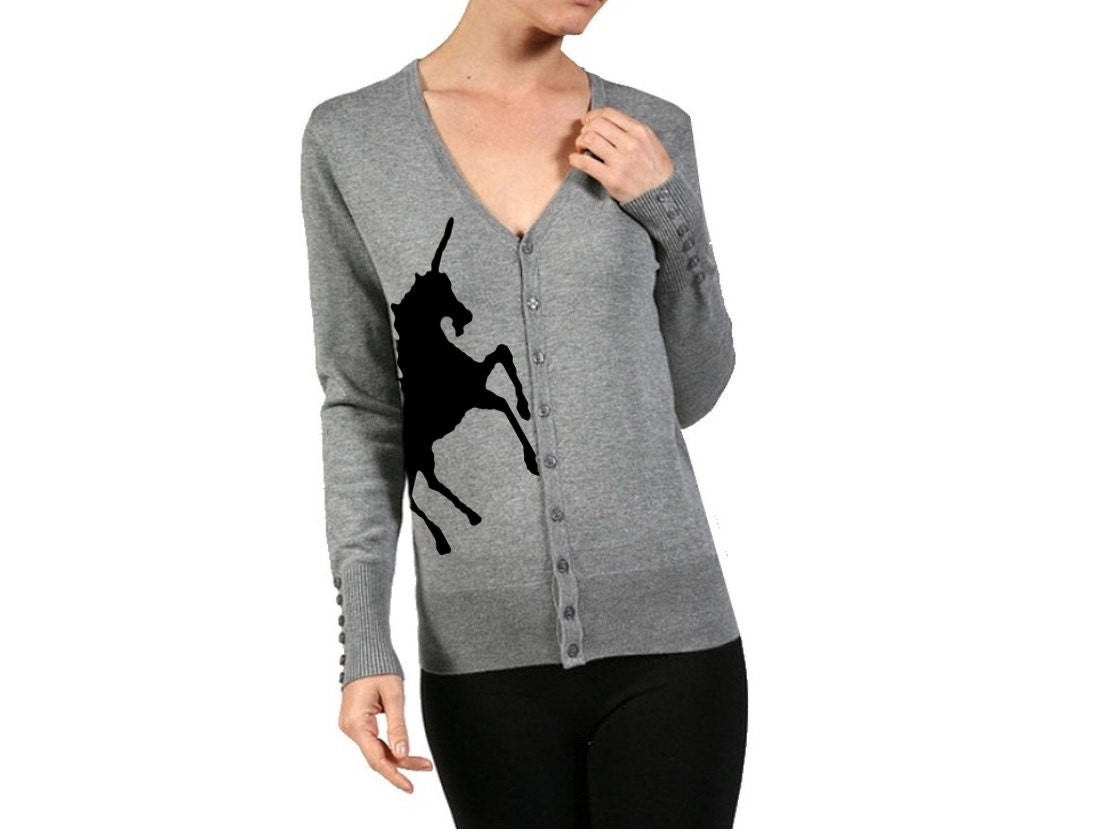 Unicorn Cardigan Sweater Women's Shirts Trendy Clothing