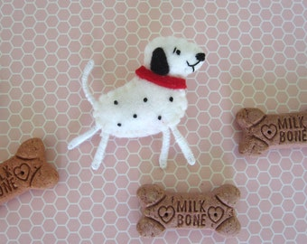 Dalmation Dog Brooch
