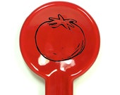 spoon rest tomato - Made to Order / Pick Your Colour