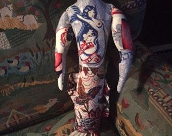 Merman with Tattoos