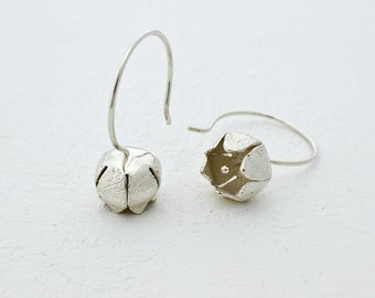 Silver Lily of the Valley Earrings