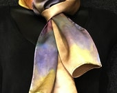 Silk Charmeuse Scarf in Safari Grey Multicolor Mix