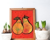 Pears Art Print - Yellow ...