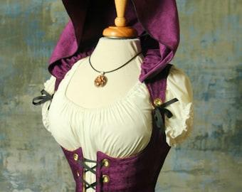Waist 40 to 42 Purple Orchard Hooded Vixen Corset