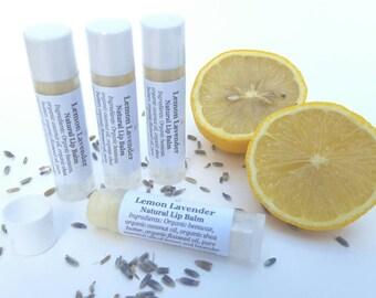 Lemon Lavender Lip Balm, Natural Lip Balm, Organic Oils, Essential Oil, Tube Lip Balm, Lip Soother, Stocking Stuffer for Women
