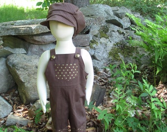 Steampunk Baby Overalls & Hat Sets