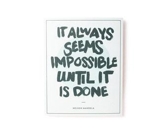 Nelson Mandela Quote Print