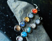 Solar System Earrings - Galaxy Dangle Earrings - Outer Space Galaxy Jewelry - Planets, Pluto, Earth, Sun, Milky Way - Science Space Wedding