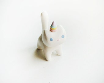 Rainbow Caticorn Cat Unicorn Totem Figure or Charm