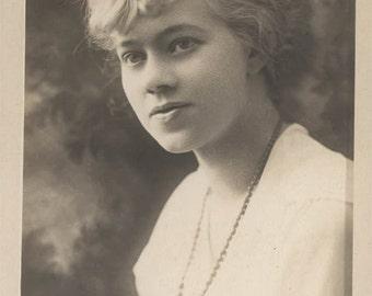 vintage photo Young Beauty Flapper Era Woman Beauty Portrait