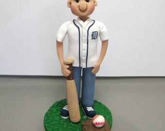 Baseball player Custom Birthday Cake Topper Figurine MADE TO ORDER