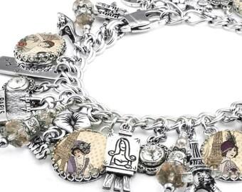 Charm Bracelet, Paris Jewelry, Paris Bracelet, Parisian Jewelry, French Bracelet, Travel Bracelet