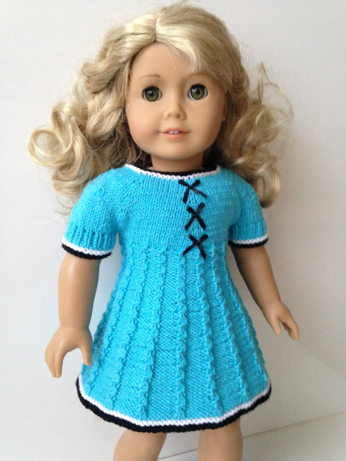 Delia Knitting Pattern for 18 inch doll dress 061
