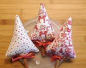 Nordic Red and White Christmas Tree Bowl Filler Decoration Ornaments