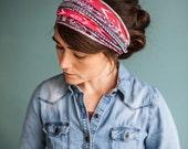 Mini Aztec Stretch Headwrap Garlands of Grace headband headcovering hair wrap