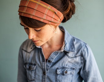 Plaid Spice Fall Tour Garlands of Grace headwrap headband