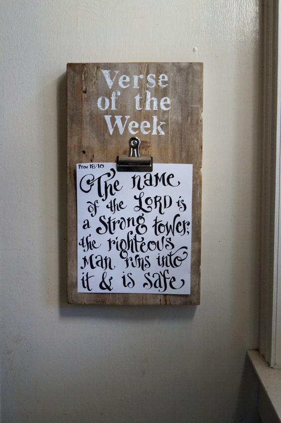 Items Similar To Verse Of The Week Clip Board Vintage